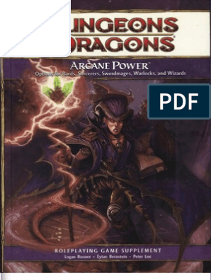 D&D 4E Arcane Power | Wizards Of The Coast | Dungeons & Dragons