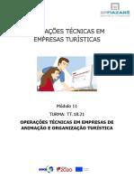 M 11 OPERAÇÕES TÉCNICAS EM EMPRESAS DE ANIMAÇÃO E ORGANIZAÇÃO TURISTICA