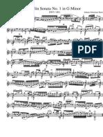 Solo Violin Sonata No. 1 in G Minor - J. S. Bach BWV 1001