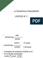 Ec de Henderson-Hasselbalch y Unidad 3