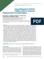 2) Optimization and Energy Management of Hybrid