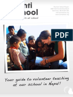 Santi School Project - Volunteer Brochure