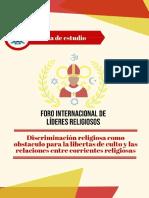 Discriminación religiosa como obstáculo para la libertad de culto