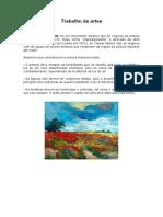 trabalho impressionismo,cubismo