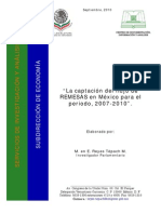 captacion del flujo de remesas 2007-2010