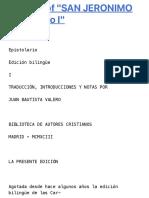 """Full text of """"SAN JERONIMO Epistolario I"""""""