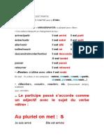 LE PASSÉ COMPOSÉ AVEC ETRE (1)