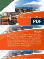 Different Types of Menu