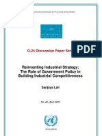 Reinventing Industrial Strategy, The Role of Govt, Sanjaya Lall