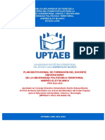 PIF UPTELAEB-Formacion Docente