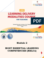 LDM Module 2 - Lesson 1 (Background Rationale and Development of MELCs)