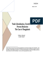 Trade Liberalization , Growth , Poverty BD Ahmed Sattar