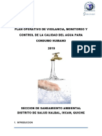PLAN  DE AGUA Xalbal 2019