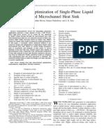 Design and Optimization of Single-Phase Liquid