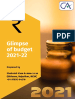 Glimpse of India's Union Budget 2021-22