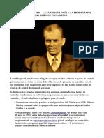 Aldous Huxley en 1958 La farmacologia y la propaganda