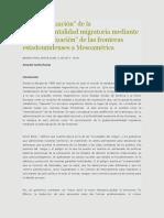 La securitización de la gubernamentalidad migratoria mediante la externalización de las fronteras estadounidenses a Mesoamérica
