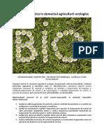 ORGANIZAREA INSPECŢIEI  TEHNICE ÎN DOMENIUL  AGRICULTURII ECOLOGICE