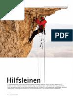 Hilfsleinen - climbing safety