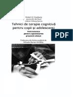 TEHNICI DE TERAPIE PT COPII SI ADOLESCENTI - Instrumente pentru optimizarea practicii clinice