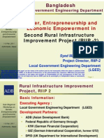 Gender, Entrepreneurship and Economic Empowerment in Second Rural Infrastructure Improvement Project (RIIP-2)