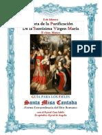 2 de Febrero. La Purificación de la Santísima Virgen María. Guía de los fieles para la misa cantada. Kyrial Cum Iubilo. En apéndice