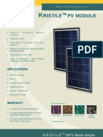 Kristile PV Module Dataspecs 2011.01.19