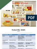 Amulaya amul: product mix.