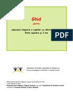 Ghid educatia timpurie nastere la 3 ani copii