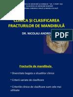 CLINICA si CLASIFICAREA FRACTURILOR DE  MANDIBULA