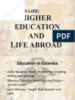 Higher Education and Abroadrizal