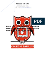 Plan de Contigencia Colegio San Luis
