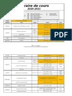 Horaire 2020-2021 Q2 + Covid (29 Janvier)