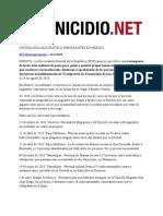 31-1-11 CRONOLOGÍA MALTRATOS A INMIGRANTES EN MÉXICO