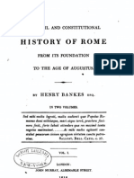 The Civi and Constitutional History of Rome. by H. Bankes. Vol. 1