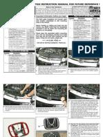 06 08 HONDA CIVIC SEDAN GRILLE INSTALLATION MANUAL CARID.COM
