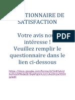 Questionnaire Ateliers