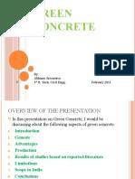 Green concrete presentation