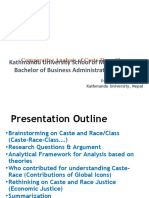 Caste, Ethnicity and Race