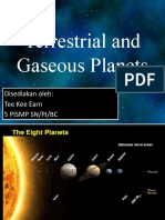 Terrestrial and Gaseous Planets