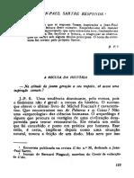 SARTRE, Jean-Paul. Entrevista para L'Arc (1)