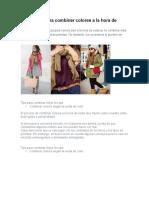7 Consejos Para Combinar Colores a La Hora de Vestir Bien