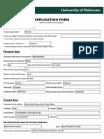 Application Form {Medicine}. 5