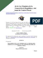 Reglamento de La Ley Orgánica de La Contraloría General de La República y Del Sistema Nacional de Control Fiscal