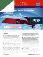 Growing Debt Burden for Canadians 2021
