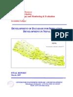 Irrigation Database Final Report