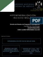 HIM (hipomineralizacion incisivo molar)