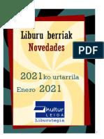 2021 Urtarrileko liburu berriak -- Novedades de enero del 2021