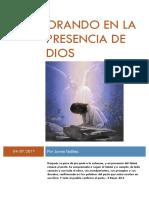 14. Orando en la presencia de Dios