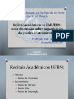 Recital acadêmico na EMUFRN_Palestra_Jacó Freire
